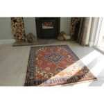 Persian Nahavand Red Hand Tufted Wool Rug