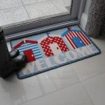 Blue & Red Washable Welcome Mat Luna
