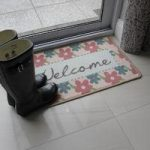 Blue & Red Floral Non-Slip Welcome Mat Luna