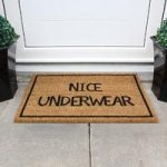 Coco Beige & Black Novelty Doormat 013