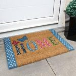 Coco Blue Polka Dots Home Pattern Doormat 019