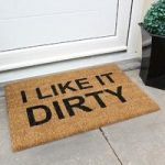 Coco Coir Natural Novelty Doormat 015