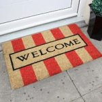 Coco Coir Red Stripes Welcome Entrance Mat 010