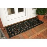 Coco Extra Long Black French Door Mat 120 x 45cm 0149