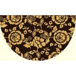 Coco Semi Circle Brown and Beige Floral Door Mat 094