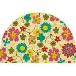 Coco Semi Circle Flower Pattern Doormat 870