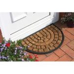 Coco Paved Design Coir And Rubber Semi Circle Doormat 38HM
