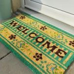 Coco Thin Green & Brown Welcome Coir Door Mat RGH05