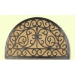 Coco Traditional Coir And Rubber Semi Circle Doormat 18HM