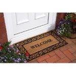 Coir Welcome Scroll Doormat Coco 045 45cm x 75cm