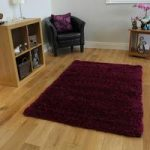 Ultra Soft Vibrant Purple Non Shed Shaggy Rug – Ontario 110 cm x 160