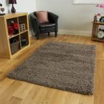 Luxurious Quality Thick Non Shed Stone Shaggy Rug – Ontario 110 cm x