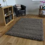 Thick Anti Shed Durable Taupe Shag Pile Rug – Ontario 120cmx170cm (4ft