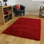 Soft Touch Warm Opulent Cosy Wine Shaggy Rug – Ontario 140cm x 200cm