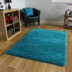 Thick Dense Teal Blue Super Soft Shaggy Rug – Ontario 110 cm x 160 cm