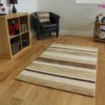Bombay Brown & Beige Modern Stripes Rug 7625 – 70cm x 130cm (2'4 x 4'4