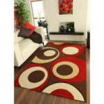 Havana Chocolate Red Circles Rug – 915-BrownRed Havana 70 cm x 140 cm