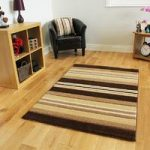 Havana Brown Cream Stripes Contempory Rug – 917-Brown Havana 70 cm x