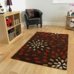 Havana Bloom Terracotta Modern Rugs 110 cm x 160 cm (3'7 x 5'3 )