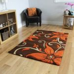 Havana Brown Burnt Orange Floral Rug – 914-BrownTerra Havana 110 cm x
