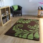 Havana Brown Green Contemporary Living Room Rug – 916-BrownGreen