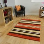 Havana Modern Terracotta Brown Stripes Mat – 917-Terra Havana 180 cm x