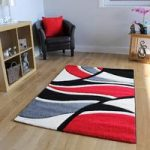 Havana Abstract Red Modern Rugs 110 cm x 160 cm (3'7 x 5'3 )