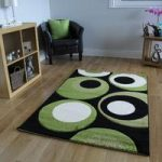 Havana Black Lime Green Carved Area Mat – 915-BlackGreen Havana 70 cm