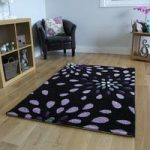 Havana Petal Purple Contemporary Rugs 110 cm x 160 cm (3'7 x 5'3 )