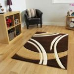 Havana Swirl Brown Contemporary Rugs 180 cm x 270 cm (5'11 x 8'10 )