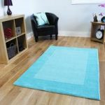Teal Blue Modern Wool Rug Milano – 150x210cm (4ft 11 x 6ft 11 )