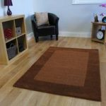 Modern Brown Wool Rug Milano- 110x160cm (3ft 7 x 5ft 3 )