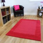 Modern Red Wool Rug Milano – 150x210cm (4ft 11 x 6ft 11 )