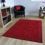 Red Rossini Cotton Rugs – 155 cm x 230 cm (5'1 x 7'7 )