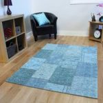 Turquoise Blue Rossini Cotton Rugs – 155 cm x 230 cm (5'1 x 7'7 )