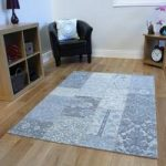Light Blue Rossini Cotton Rug – 155 cm x 230 cm (5'1 x 7'7 )