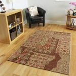 Bella Patchwork Floral Red Rugs – 155 cm x 230 cm (5'1 x 7'7 )