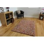 Multi Jelly Bean Modern Wool Rug 110cm x 160cm (3ft 7 x 5ft 2 )