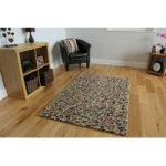 Rust Jelly Bean Modern Wool Rug 110cm x 160cm (3ft 7 x 5ft 2 )