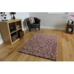 Pink Jelly Bean Modern Wool Rug 110cm x 160cm (3ft 7 x 5ft 2 )