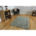 Blue Jelly Bean Modern Wool Rug 110cm x 160cm (3ft 7 x 5ft 2 )