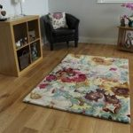 Colourful Yellow Modern Rug Cannes 110cm x 160cm (3ft 7 x 5ft 2 )