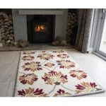 Sofia Statement Red Wool Rugs 110cm x 160cm (3ft 7 x 5ft 2 )
