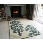 Sofia Regal Green Wool Rugs 110cm x 160cm (3ft 7 x 5ft 2 )
