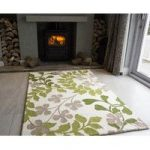 Sofia Green Ivy Wool Rugs 110cm x 160cm (3ft 7 x 5ft 2 )