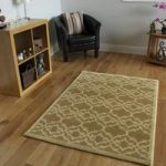 Dakota Beige and Cream Trellis Border Rug 110cm x 150cm (3'7 x 4'11)