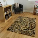 Dakota Paisley Brown and Green Rugs 110cm x 150cm (3'7 x 4'11)