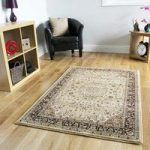 Berber Beige Traditional Border Design Rug – 1978 Westbury – 110 cm x