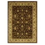 Rich Chocolate Brown Soft Floral Print Rug – 7709 Westbury – 80 cm x