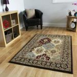 Luxurious Dark Brown Traditional Design Rug – 3213 Westbury – 80 cm x